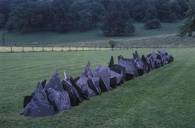 Rain Line, 2005 By Richard Long