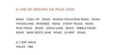 A Line of Ground 226 Miles Long, 1980