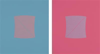 River Blue&Pink, 2009 and River Pink&Blue, 2009