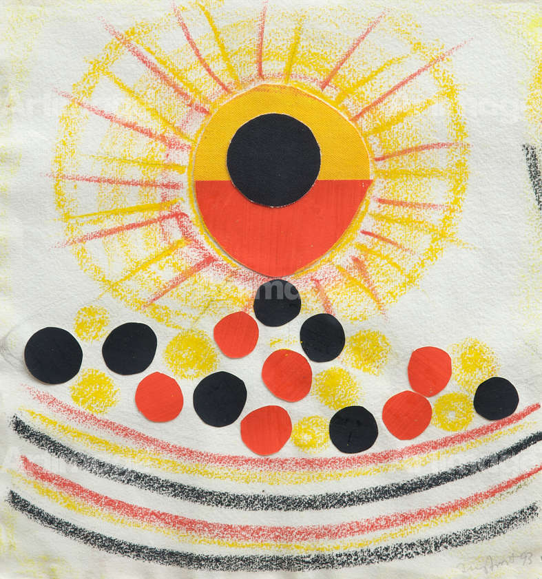 Enlarged version of Sun and Olives, 1993
