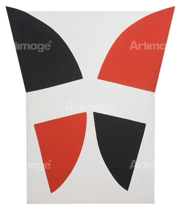Enlarged version of Red, Black and White Movement, 1968