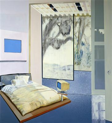 Bill Gates' Bedroom, 2000 By Dexter Dalwood