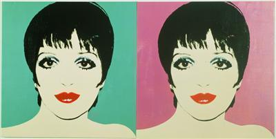Liza Minnelli (two panels), 1978 By Andy Warhol