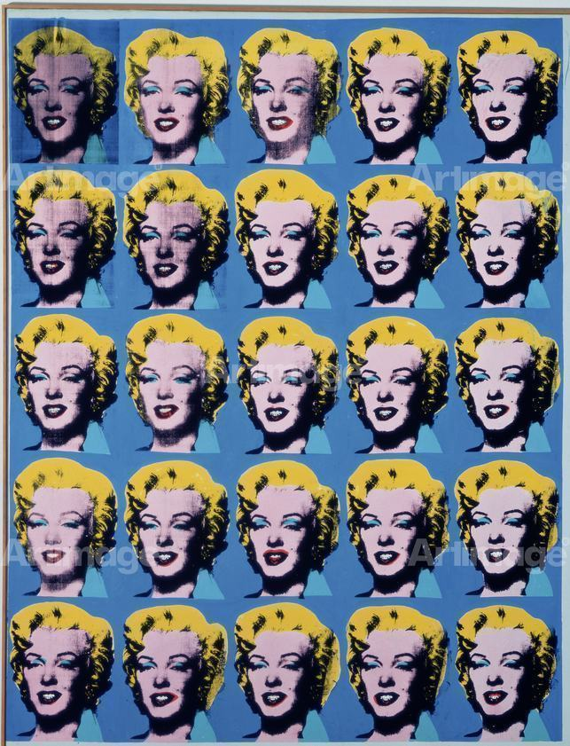 Enlarged version of Twenty-Five Colored Marilyns, 1962