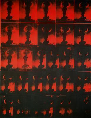 Red Explosion (or Atomic Bomb), 1963 By Andy Warhol