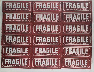 Fragile Handle with Care, 1962 By Andy Warhol