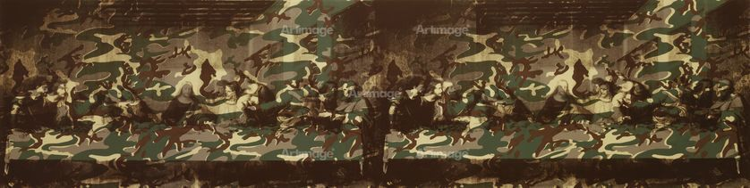 Enlarged version of The Last Supper (The Last Supper Twice With Camouflage), 1986