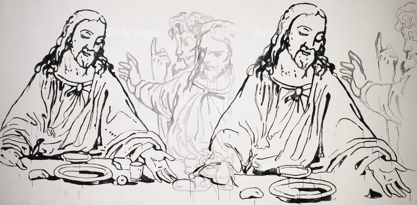 Enlarged version of Details of The Last Supper, 1986