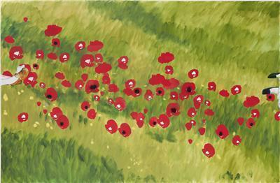 Two Girls in a Poppy Field, 2011