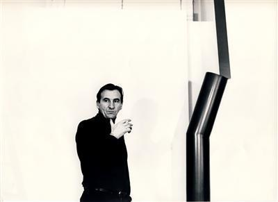 William Turnbull with Sculpture, 1966 By William Turnbull
