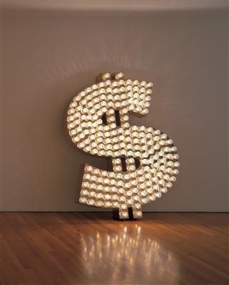 $, 2001 By Tim Noble and Sue Webster