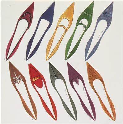 Shoe Illustration for Harper's Bazaar, c. 1958  By Andy Warhol