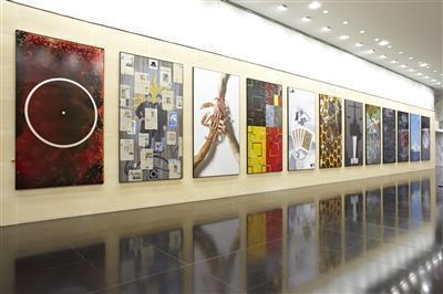 12 Harmonic Paintings, 2011 (Installed at Deustche Bank, Lon... By Keith Tyson