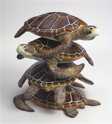 Large Field Array: Stack of Turtles (detail of 52/300), 2006... By Keith Tyson