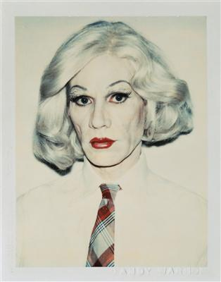 Self-Portrait in Drag, 1981  By Andy Warhol