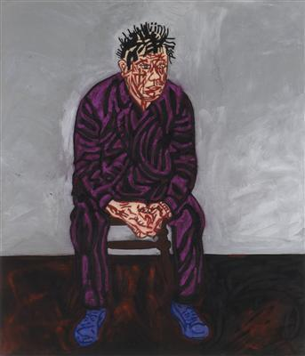 Self-Portrait, 1987 By Tony Bevan