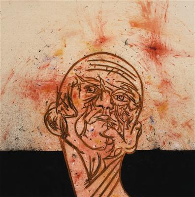 Self-Portrait Head and Neck, 2009 By Tony Bevan