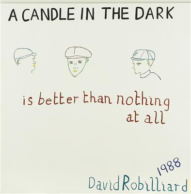 A candle in the dark is better than nothing at all, 1988
