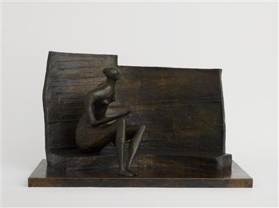 Seated Figure against Curved Wall, 1957