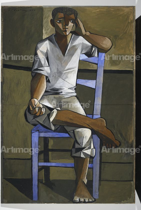 Boy on a Blue Chair, 1946