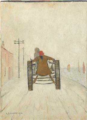 Woman Riding on a Tractor, 1961 By LS Lowry