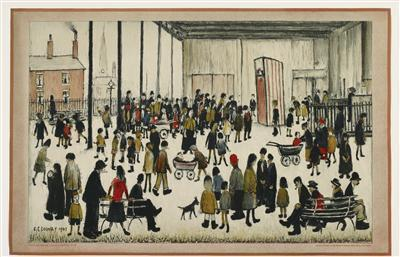 Punch & Judy (3), 1947 By LS Lowry