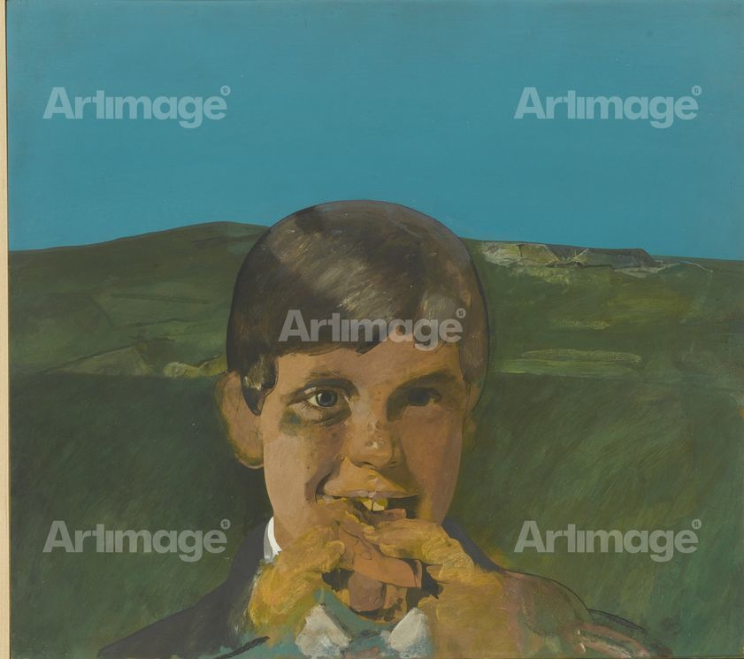 Boy Eating a Hot Dog, 1960-1965
