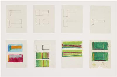 Sheet of eight compositional sketches (1), c. 1965
