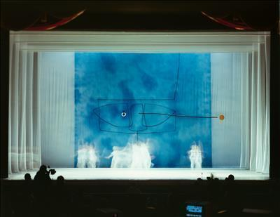 "Photo of the stage design for ballet ""Apollo"" at the Royal O..."