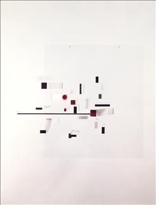 Abstract in White, Black, Green, Lilac and Maroon, 1963-65