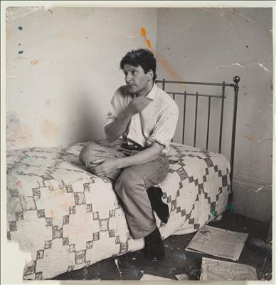 Lucian Freud on Bed, c. 1964