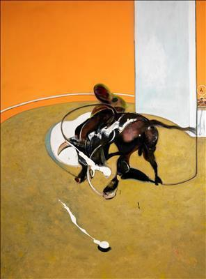 Second Version of Study for Bullfight No. 1, 1969 By Francis Bacon