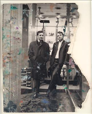 George Dyer and Francis Bacon in Soho, 1966