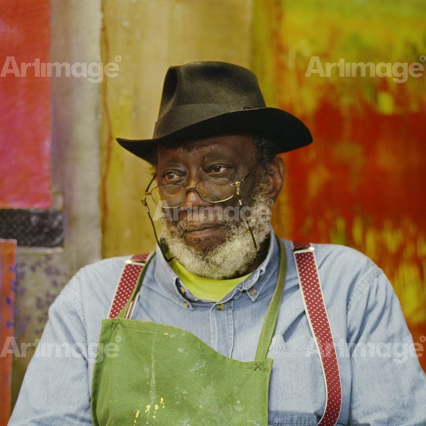 Enlarged version of Frank Bowling, 2014