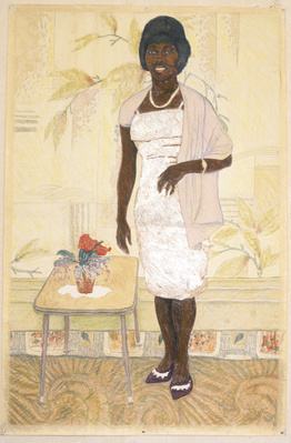 Auntie Enid - The Pose, 1985 By Sonia Boyce