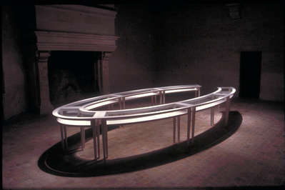 Negotiating Table, 1991 (installation view, Chateau of Chamb...