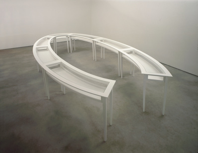 Negotiating Table, 1991 (installation view, Maureen Paley In...