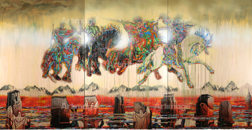The Four Horsemen of the Apocalypse, 2009 (Installation view